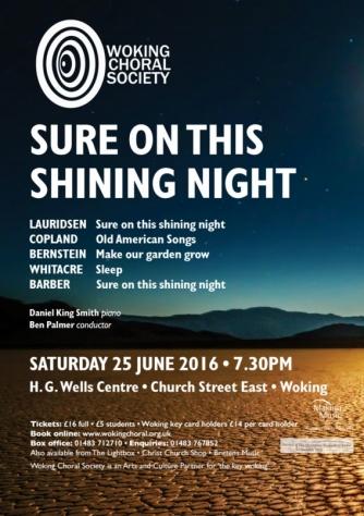 WCS summer 2016 concert poster
