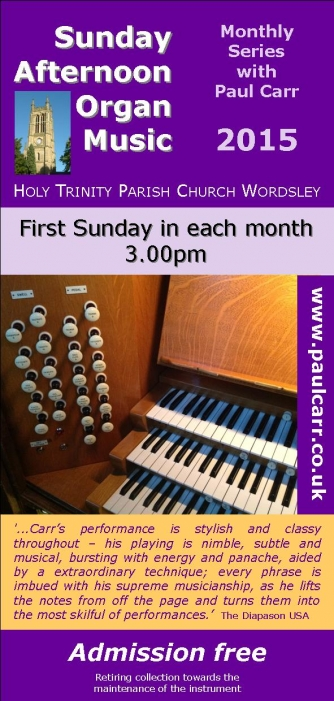 Sunday Afternoon Organ Music at Holy Ttrinity Wordsley