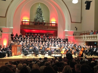 Barts Choir performing at Cadogan Hall in November 2015
