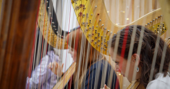 Harpists from Royal Birmingham Conservatoire