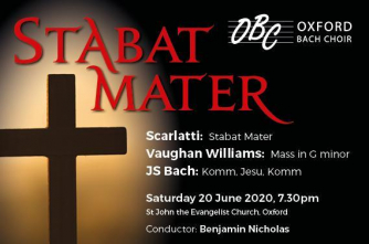 Poster for Oxford Bach Choir's Stabat Mater concert