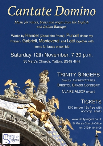 Concert Poster - Cantate Domino