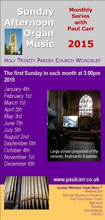 Sunday Afternoon Organ Music