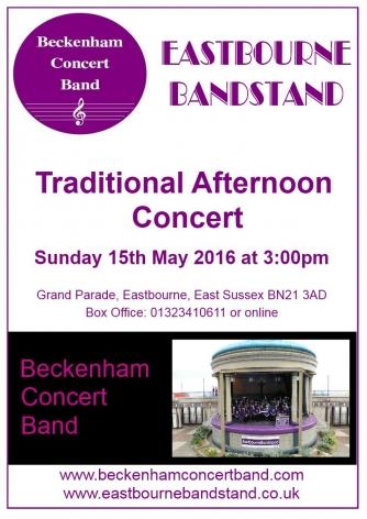 Eastbourne Concert Poster