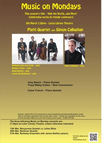 Piatti Quartet and Simon Callaghan