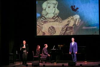 Roderick Williams, baritone; Julius Drake, piano; Adam Gopnik, narrator perform at 92Y