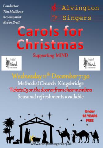 Alvington Singers' Christmas Concert Poster