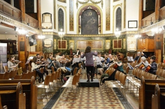 The Central London Orchestra in rehearsal