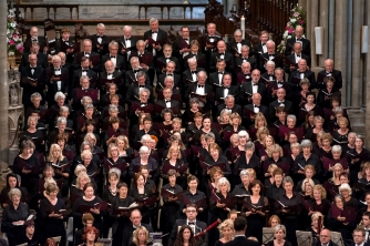 Truro Choral Society performing in Truro Cathedral with Truro Symphony Orchestra