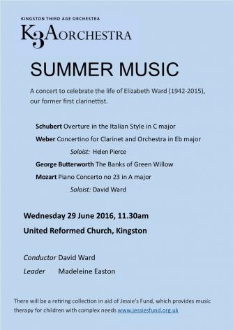 Summer Music flyer