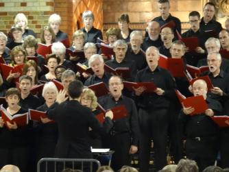Kingston Choral Society performing at St Andrews Church, Surbiton