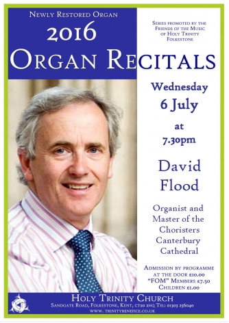 David Flood Recital 6th July 2016