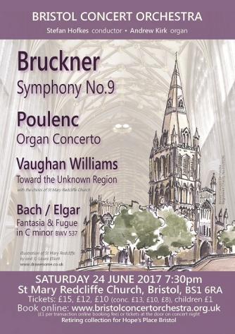 Bristol Concert Orchestra 24 June 2017 concert poster