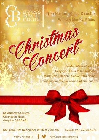 Croydon Bach Choir Music for the Festive Season 2016