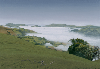 Fog in the Clun Valley by Robert Cunning