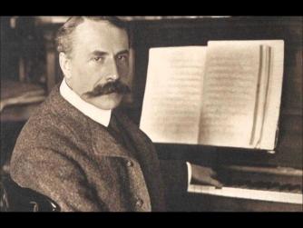 Edward Elgar at the piano
