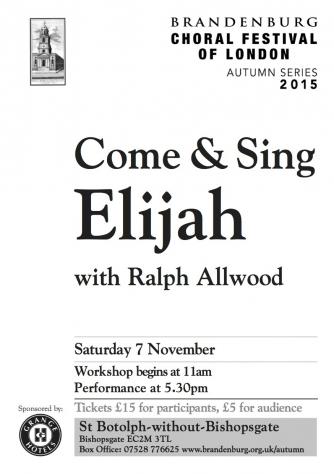 Come & Sing Elijah