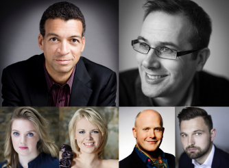 Roderick Williams, Christopher Glynn, Rowan Pierce, Kathryn Rudge, Nicky Spence and James Newby