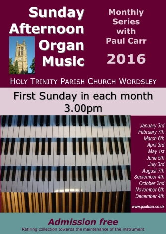 Sunday Afternoon Organ Music 2016 'Toccata!'