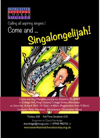 Singalongelijah poster