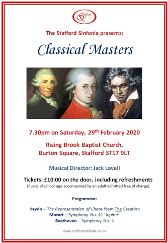 Stafford Sinfonia: Classical Masters