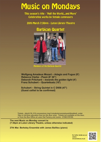 Barbican Quartet with Jonathan Dormand