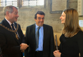 Lindsay and Antoine with the Mayor of Coventry at a Mayor's Charity concert.