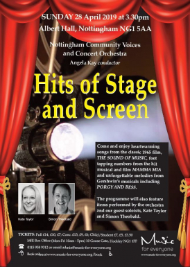 Hits of Stage and Screen concert flyer