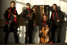 Red Priest (L to R: Piers Adams, recorders; Adam Summerhayes, violin; Angela East, cello; David Wright, harpsichord)