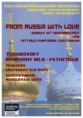 CPO Autumn 2017 Concert - From Russia With Love