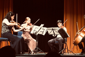 Members of the Maiastra quartet