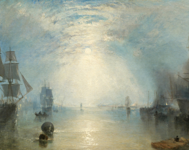 Wikimedia Commons. JMW Turner, Keelmen Heaving in Coals by Moonlight, 1835