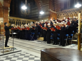 Kingston Choral Society performaing at St Andrew's Surbiton under their Director of Music Andrew Griffiths