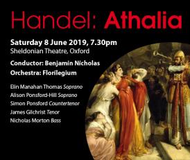 Poster for Oxford Bach Choir's Athalia concert