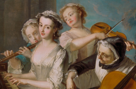 Philippe Mercier, 1689 or 1691–1760, The Sense of Hearing, 1744 to 1747, Yale Center for British Art, Paul Mellon Collection copy
