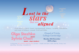 Lost in the stars ... that are aligned: piano music and songs about stars ... Franck, Debussy, Scriabin and others