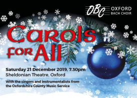 Poster for Oxford Bach Choir's Carols for All concert