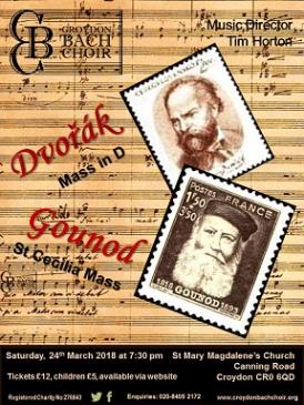Croydon Bach Choir Spring Concert Dvorak Gounod