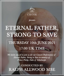 Poster for the Self-Isolation Choir's Eternal Father, Strong To Save performance