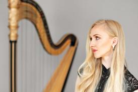 woman and harp