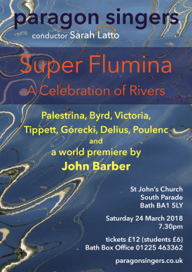Choral concert by Bath chamber choir on the theme of rivers