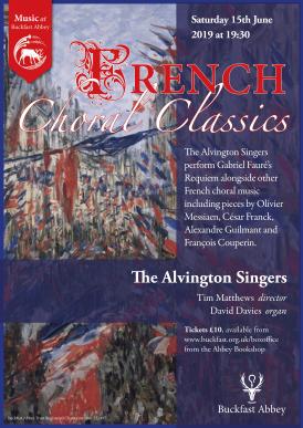 Alvington Singers Buckfast Abbey Concert Poster
