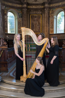 London Harp Quartet (Olivia Jageurs not pictured)