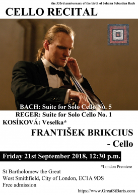 Czech Cellist Frantisek Brikcius