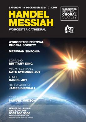 Worcester Festival Choral Society Handel Messiah concert 11 December 2021