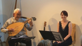 Din and Carmel performing in Wirksworth