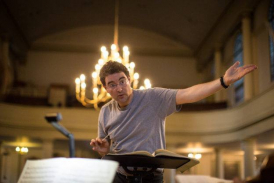Composer and conductor, Benjamin Wolf