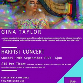 Sue Young Cancer Support Fund Raising Harp Concert with Gina Taylor