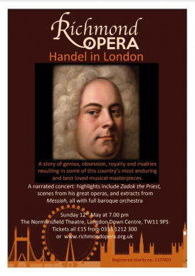 Handel in London concert flier