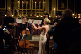 Harriet and the Celoniatus Ensemble performing at St Mary's a year ago